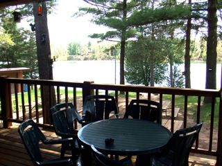 A view from the Springwater Resort deck.