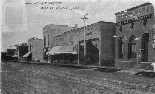 Wild Rose Main Street in 1910