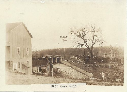 Red Mill in 1908, photo courtesy Pam Anderson, President, Wild Rose Historical Society