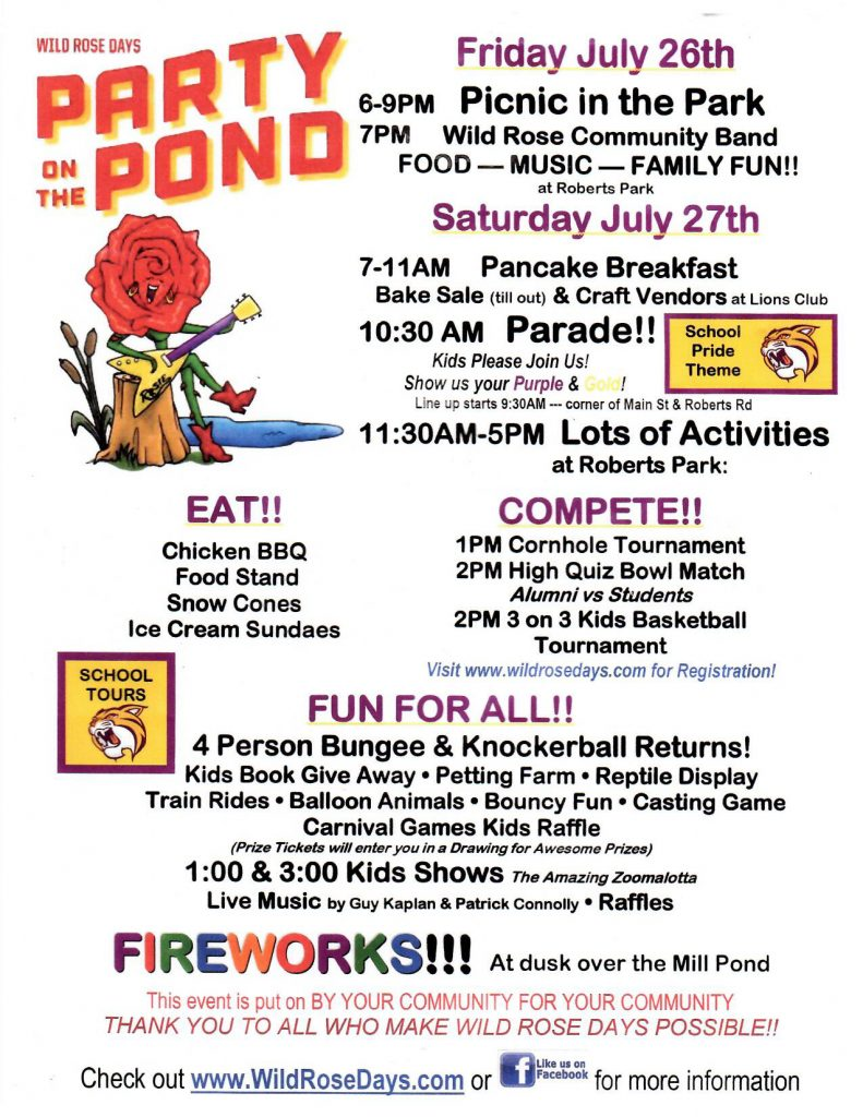 Wild Rose Days Party on the Pond